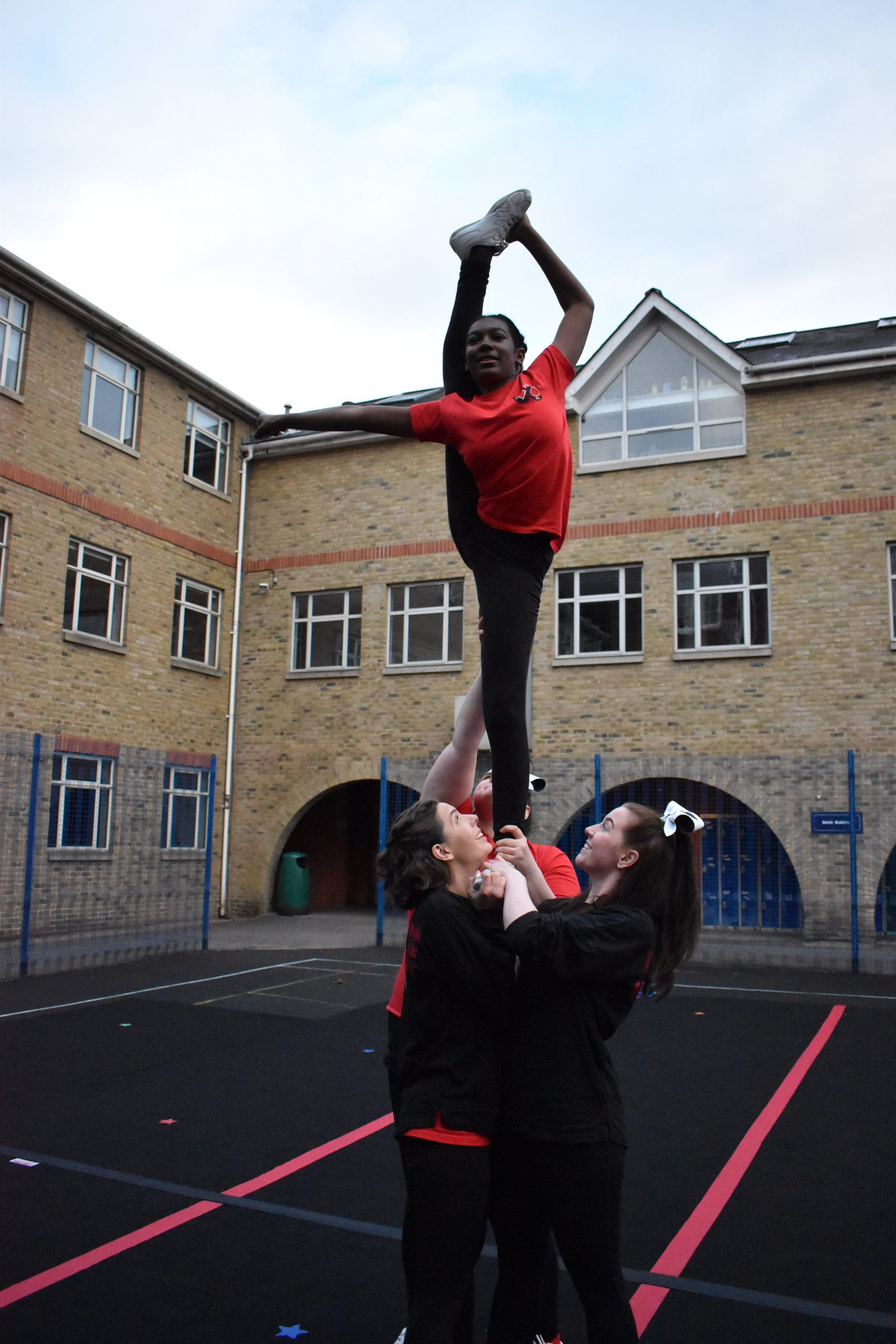 Mixed age age cheerleading team London